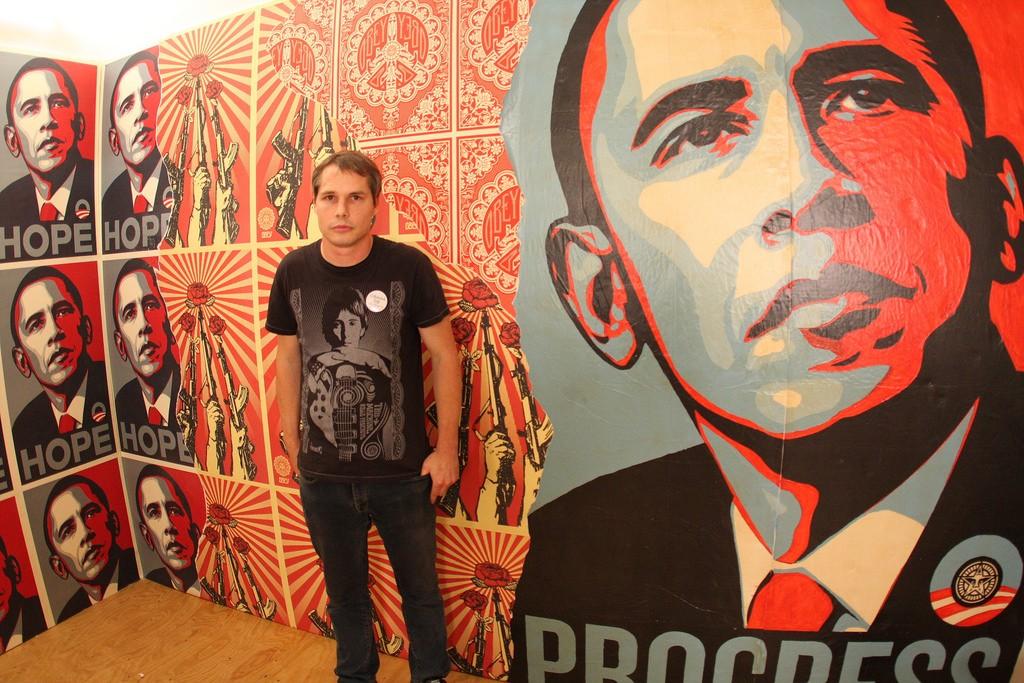Shepard Fairey: The Artist Manufacturing Dissent  Shepard Fairey:...