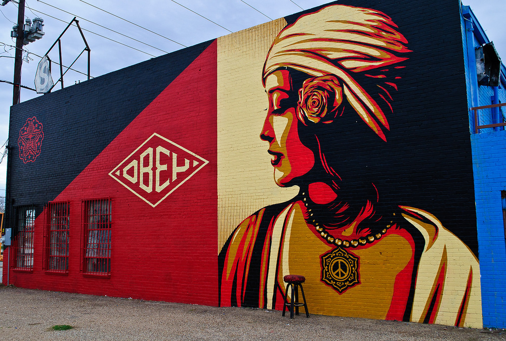 Shepard fairey the artist manufacturing dissent for Dallas mural artists