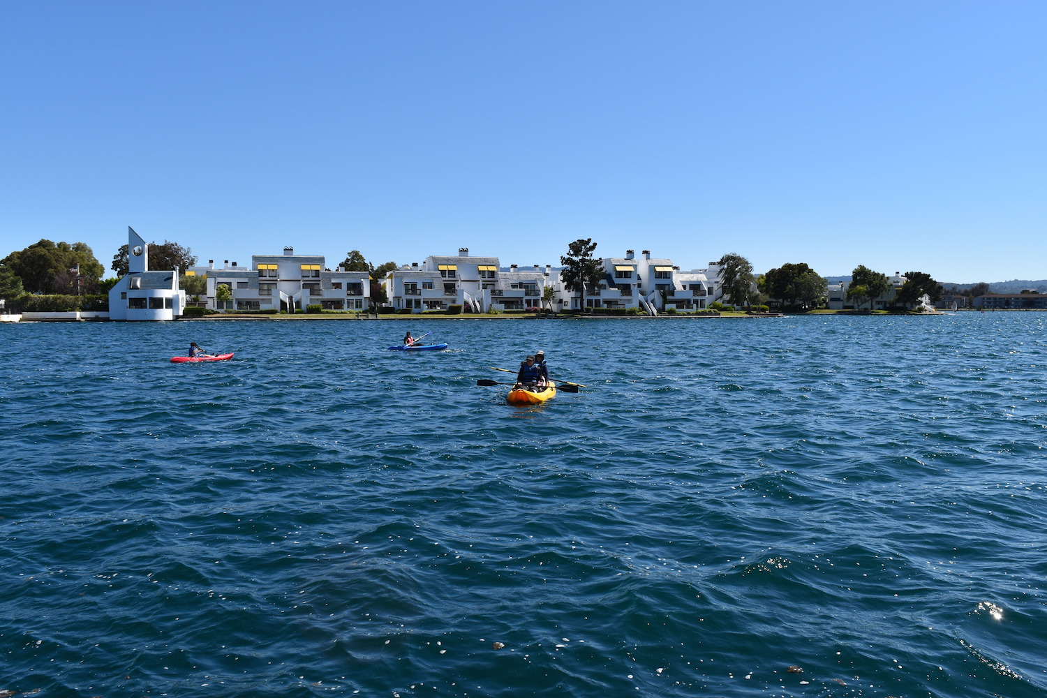 People canoe in the lagoon off of Leo J. Ryan Memorial Park | © Rebecca Ezrin