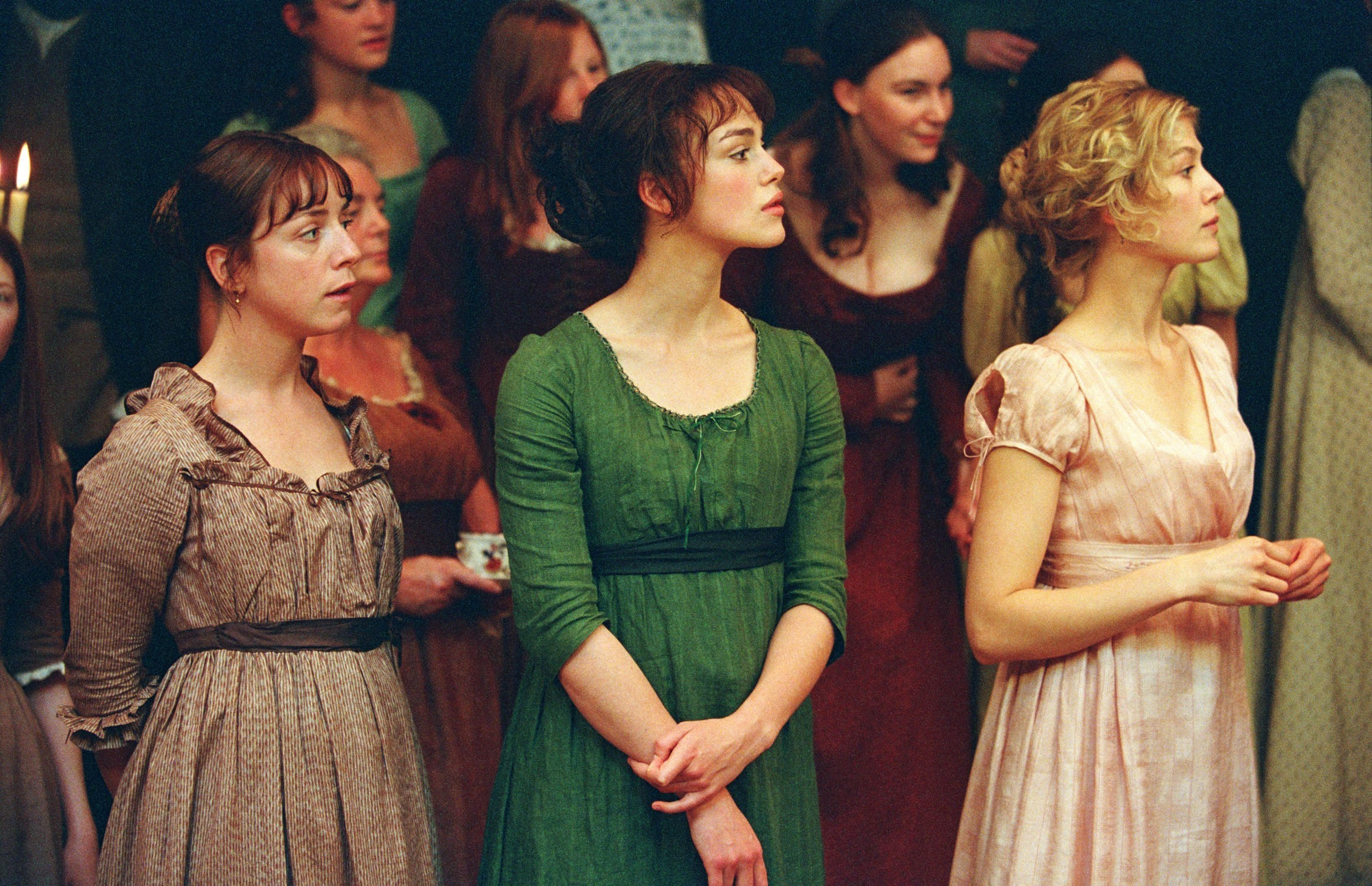 things you didn t know about pride and prejudice the bennet sisters at a ball copy pride and prejudice 2005 studio