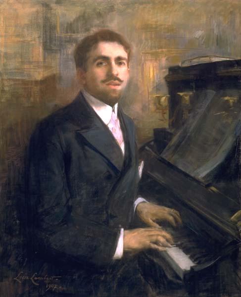Reynaldo Hahn, portrait by Lucie Lambert (1907) via Wikipedia Commons