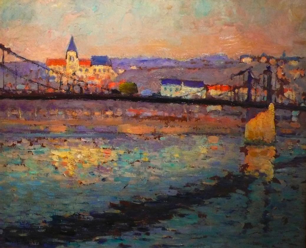 Triel sur Seine, le pont du chemin de fer (1904)|©Galerie du Post-Impressionnisme/Wikimedia Commons