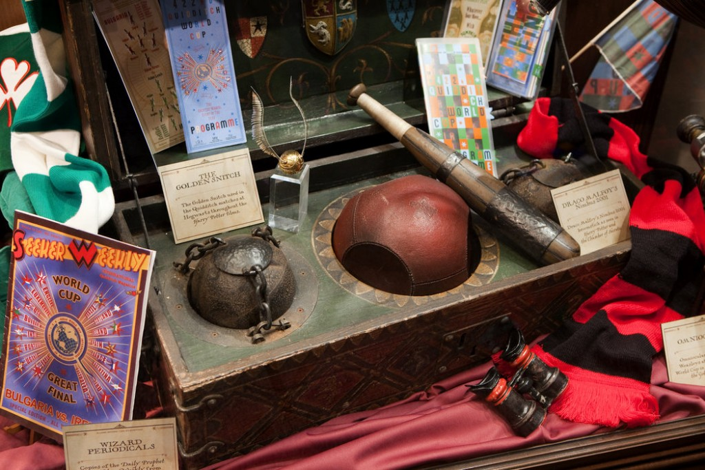 Quidditch Case - HP Exhibition | Courtesy of MB Presents