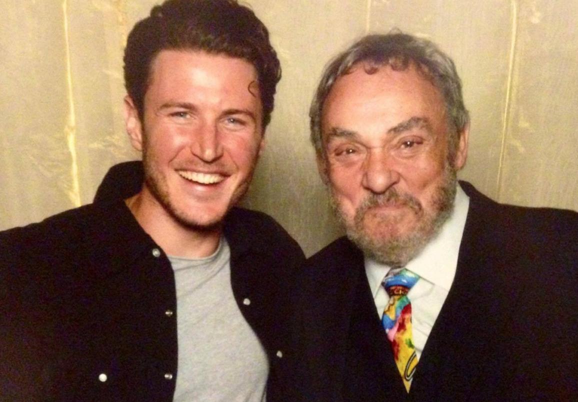 Aaron Jakubenko with John Rhys Davies. Image courtesy of Aaron Jakubenko.