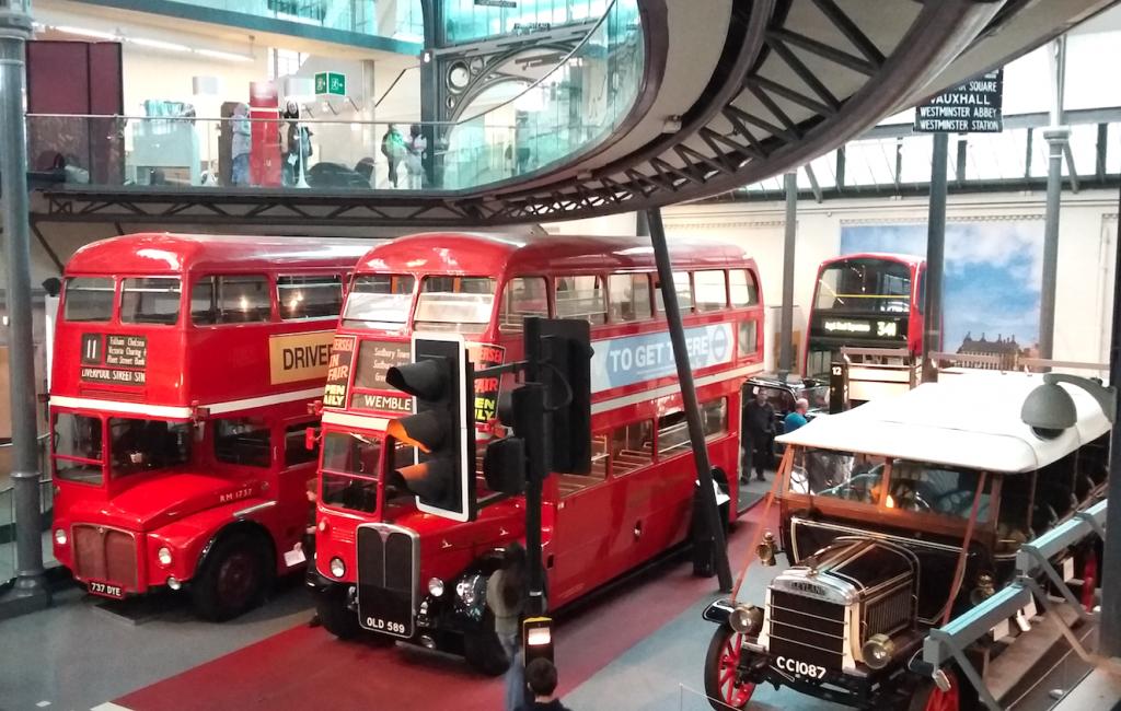 Classic motors in the London Transport Museum's 'Transportorium'   © Christopher M Little