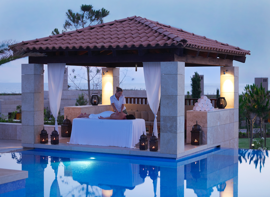 Guests can choose to have their treatments outside by moonlight © Costa Navarino
