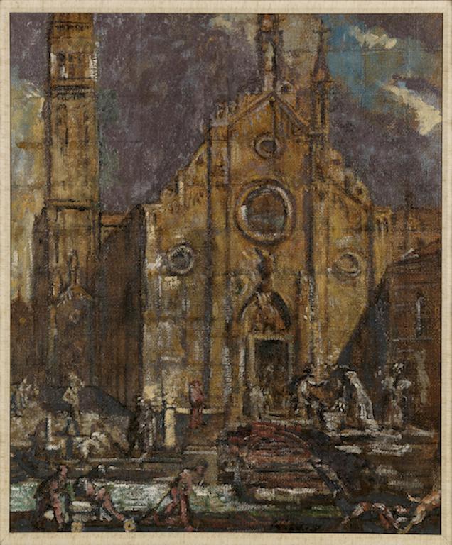 Walter Richard Sickert, Outside the Frari, Venice, c. 1939 | Courtesy of The Fine Art Society