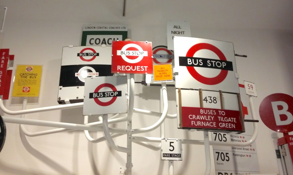 A collection of bus stop signs from over a century of bus services in London   © Christopher M Little