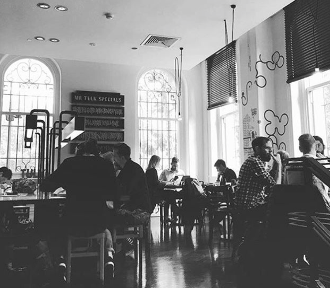 State Library's Mr Tulk Cafe. Image courtesy of Mr Tulk Cafe.