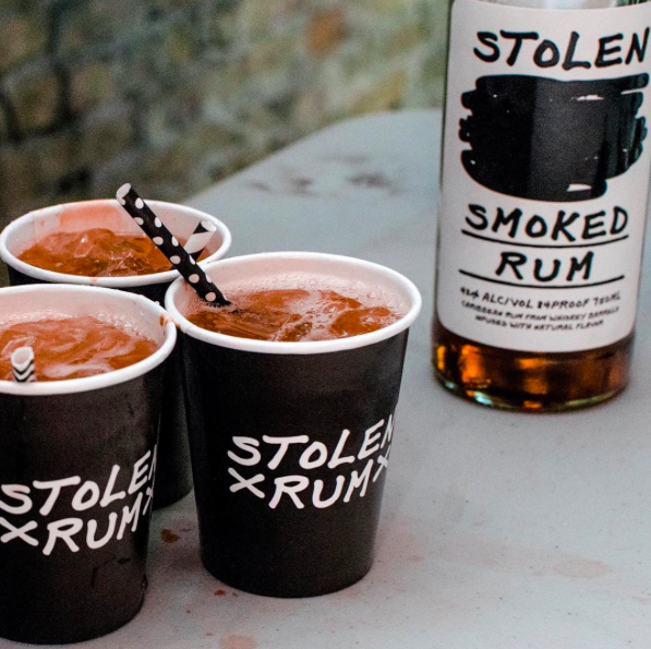 """Enjoy a delicious smoked rum and ginger beer, """"Smoke & Stormy"""" courtesy of Stolen Rum"""