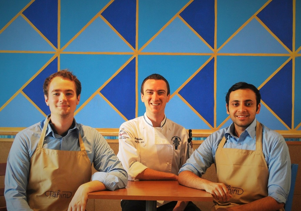 Alex, Chef Andy and Siddhant, the founders of Tahini | © Tahini