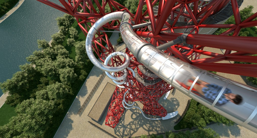 Original CGI of The Slide at ArcelorMittal Orbit | Courtesy of Queen Elizabeth Olympic Park