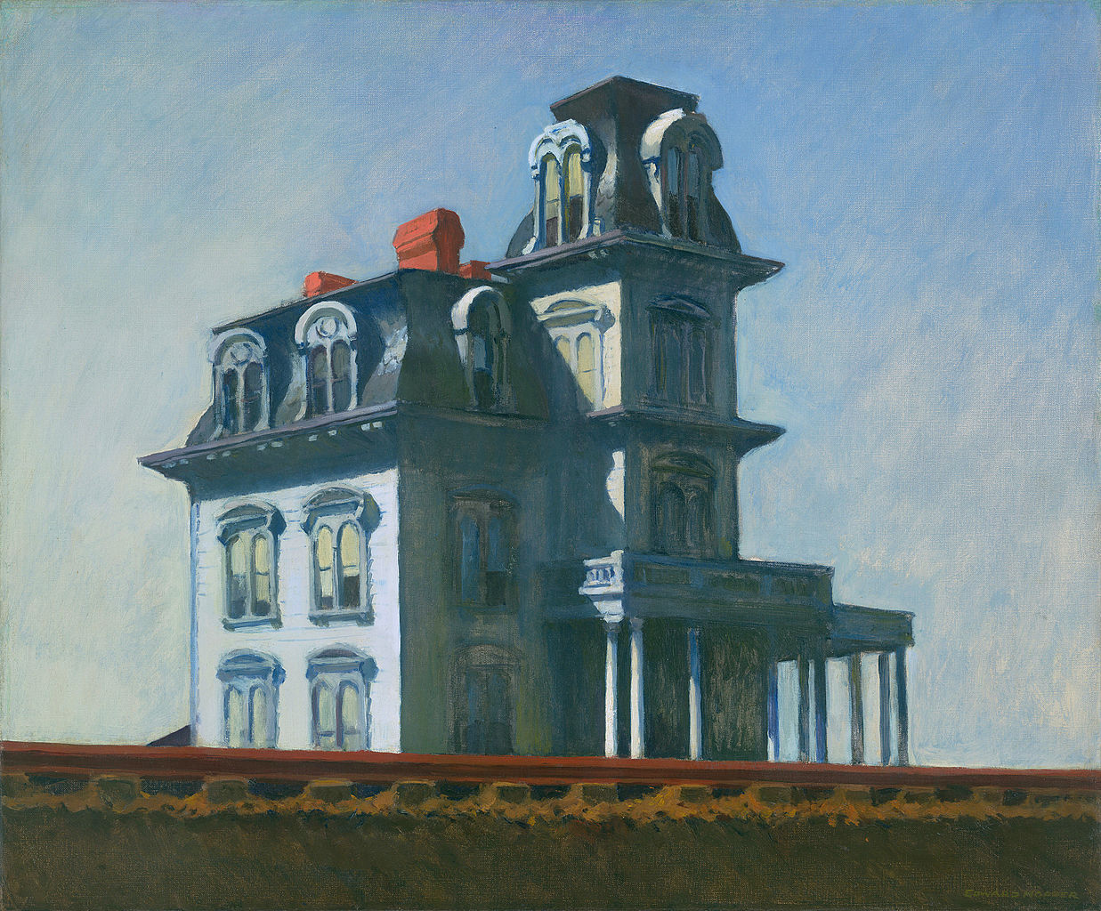The House by the Railroad by Edward Hopper 1925 | © WikiCommons