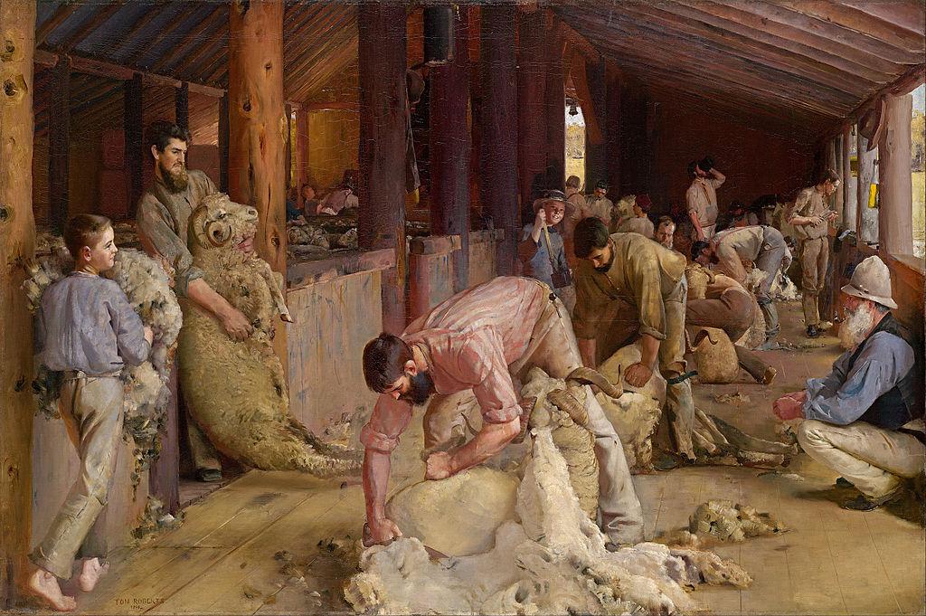 Tom_Roberts_-_Shearing_the_rams_-_Google_Art_Project