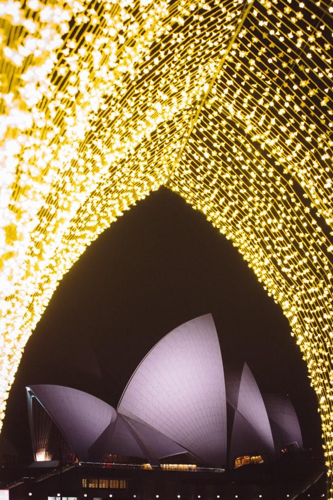 Vivid Sydney 2016 - Cathedral of Light | Courtesy of Vivid Sydney
