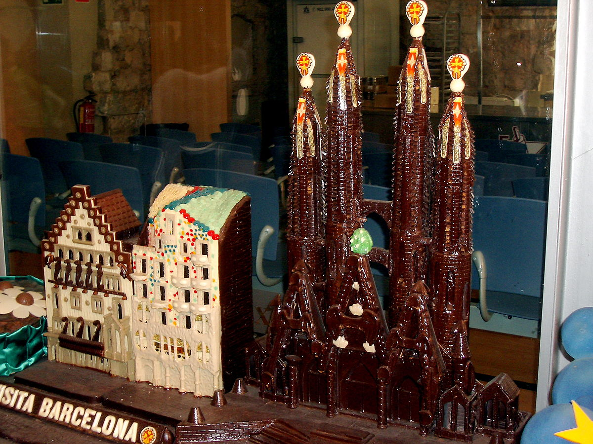 A chocolate replica of Antoni Gaudí's most famous masterpieces | © Tsk070 / WikiCommons