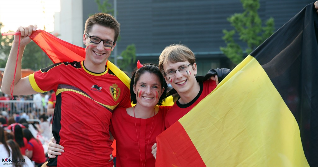 Belgian soccer fans all dressed up in the nation's colors | © Republic of Korea/Flickr