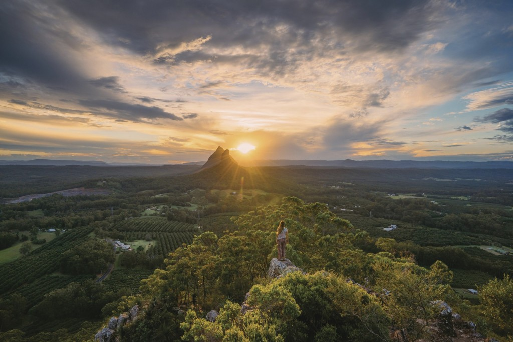 Glass House Mountains, Mary Cairncross Lookout, QLD   Courtesy of Tourism and Events Queensland / Jason Charles Hill Photography
