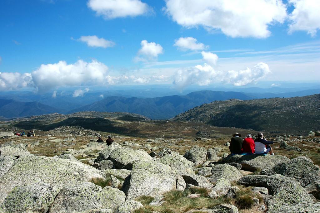 View from top of Mt Kosciuzsko in summer - the highest point in Australia   © Andrea Schaffer / Flickr