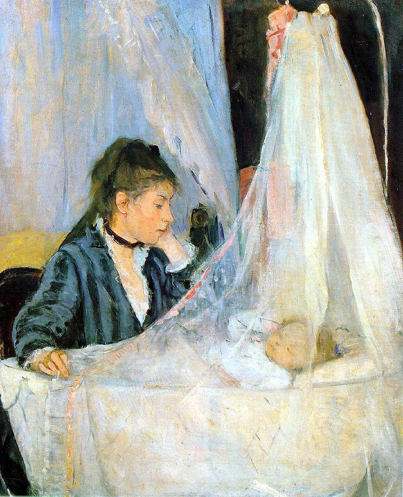 Berthe Morisot, The Cradle, 1872, Musée d'Orsay, Paris|Wikicommons