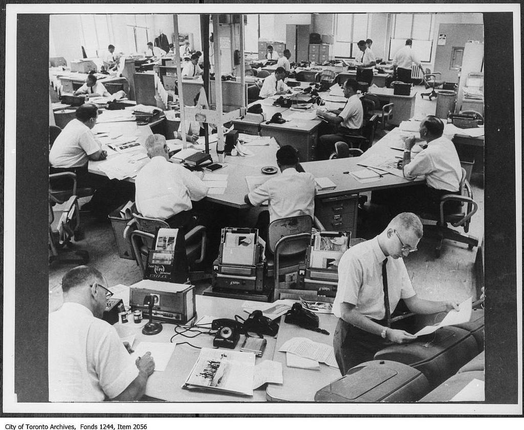 Toronto Star newsroom | © Toronto History/Flickr