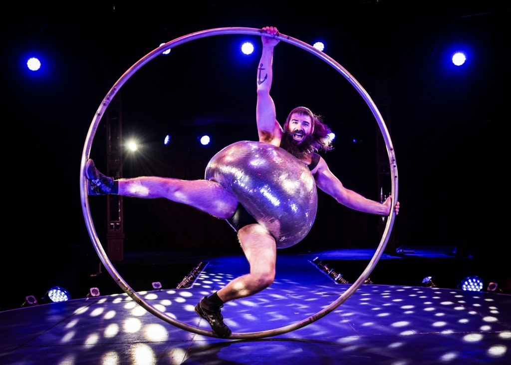 Antoine Carabinier-Lépine performs with a Cyr Wheel as part of the Barbu acrobatic troupe | © David Jensen