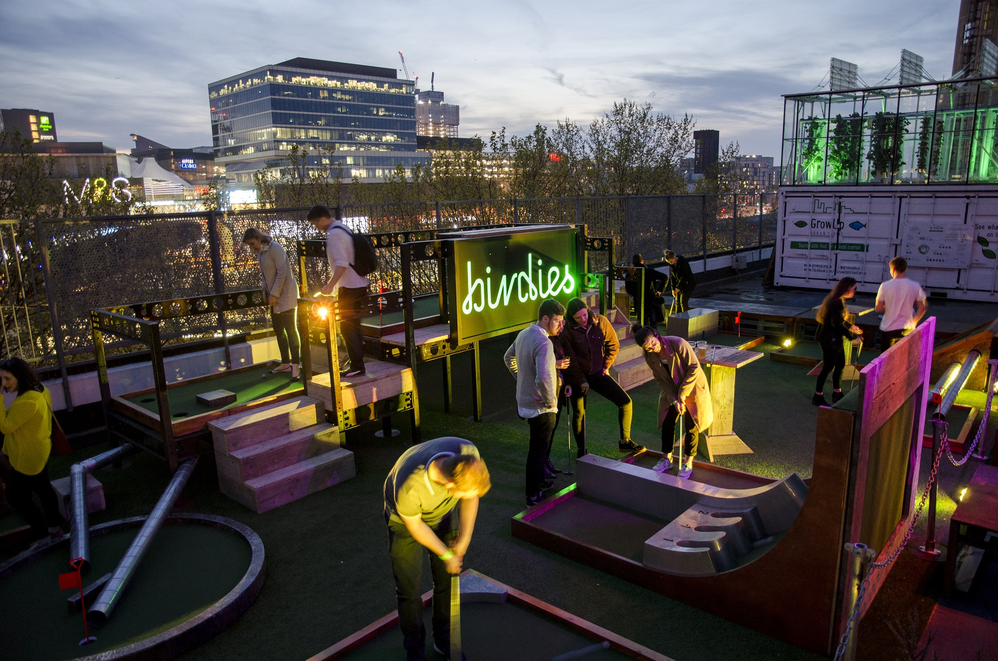 Birdies crazy golf, Roof East | Courtesy of Birdies