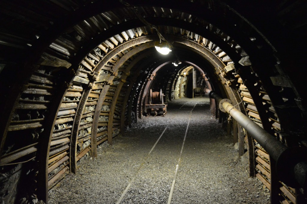 """A gallery in the coal mine of Blegny, a world heritage site 