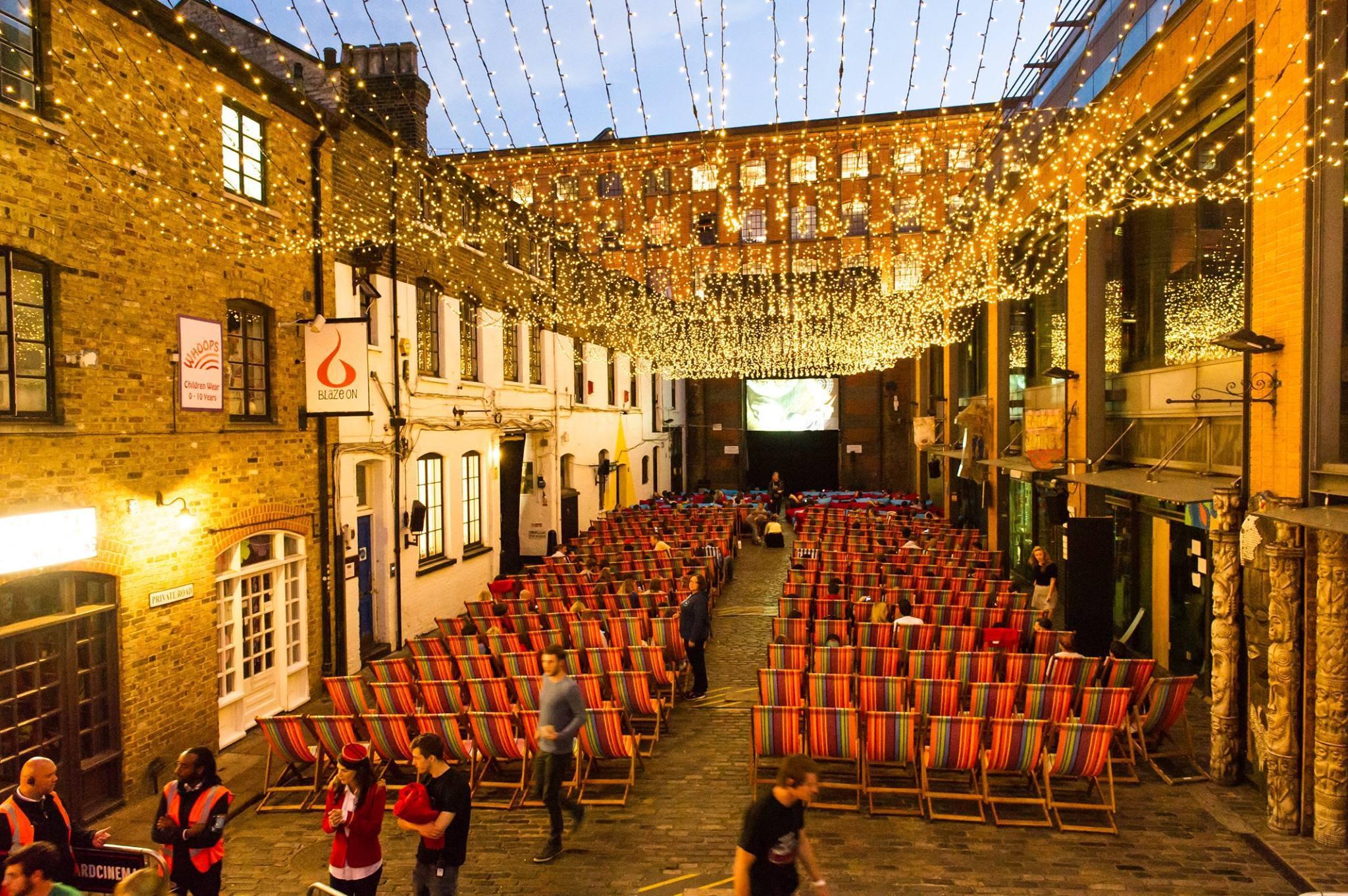 Backyard Cinema in Camden Market  Courtesy of Backyard Cinema