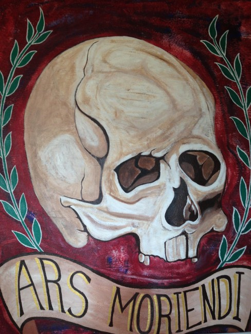 Mural introducing 'ars moriendi' (Latin for the 'The Art of Dying')   Courtesy of Stephen A. Cooper