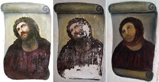 Ecce Homo restoration | © cea + / WikiCommons