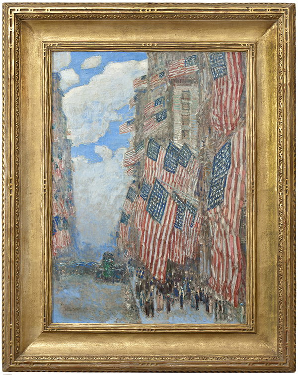 Childe Hassam The Fourth Of July 1916 Greatest Display American