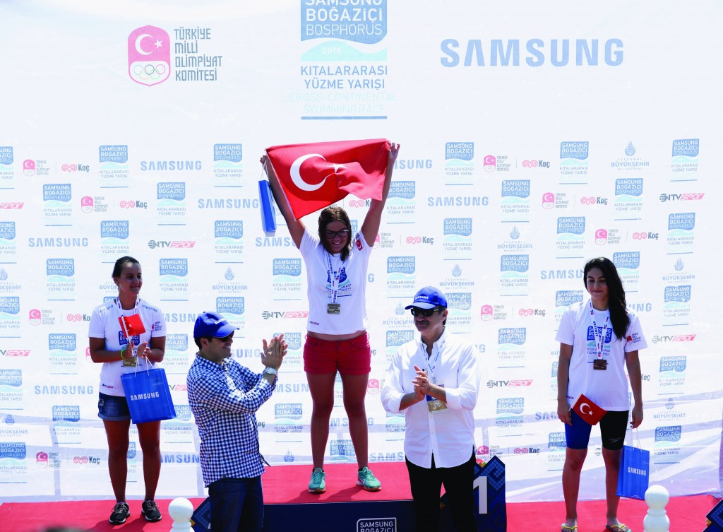 Women's awards ceremony: Nilay Erkal 1st, Deniz Güngöroğlu 2nd, Ekinsu Tezel 3rd | © Image.net
