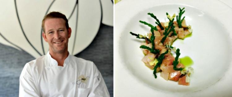 Chef C.J. Jacobson and the Hamachi (credit: Girasol Restaurant)