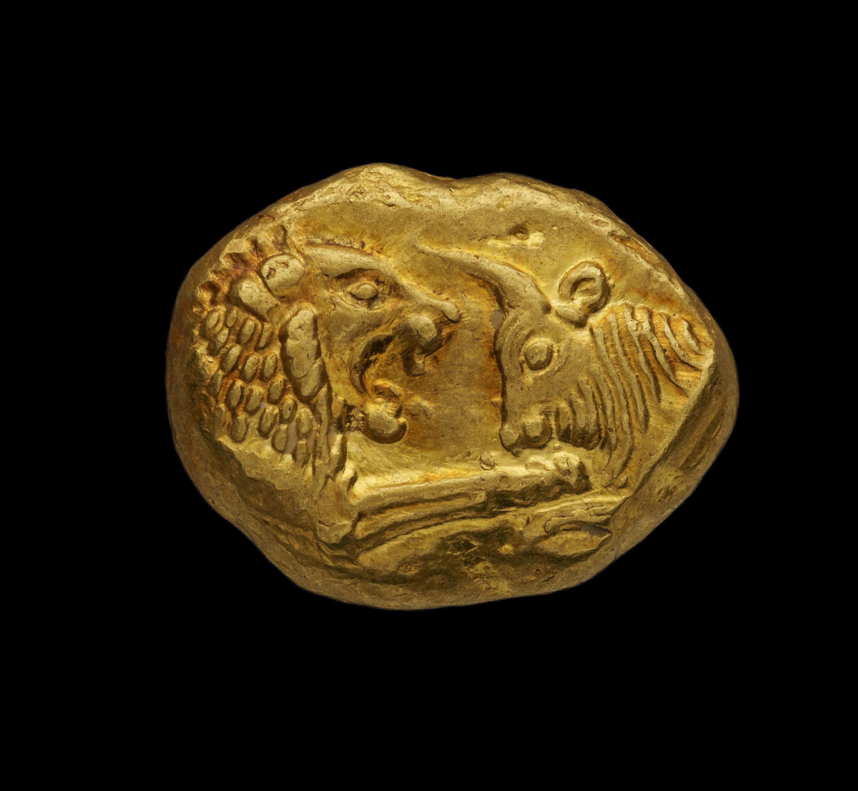 Gold Stater, Lydia, Kroisos at Kallos Gallery| ©Steve Wakeham/Kallos Gallery