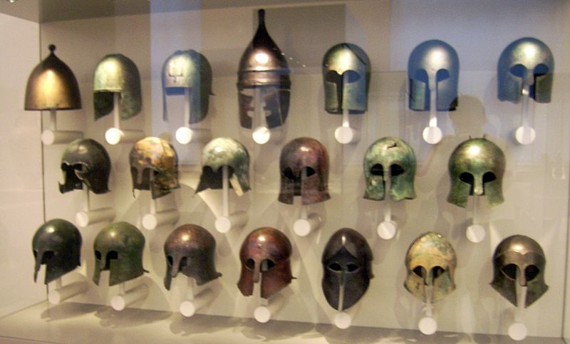 Greek helmets | © Marcus Cyron/WikiCommons