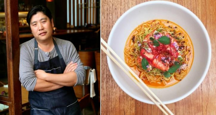 Chef Brandon Kida and the Butter lobster ramen (credit: Hinoki & The Bir