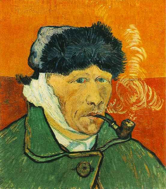 Vincent Van Gogh, Self-portrait with bandaged ear and pipe, 1889 | Courtesy of WikiCommons
