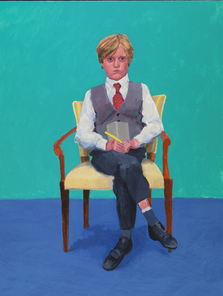 Rufus Hale by David Hockney, 23rd, 24th, 25th November 2015, photography by Richard Schmidt|©David Hockney/Royal Academy
