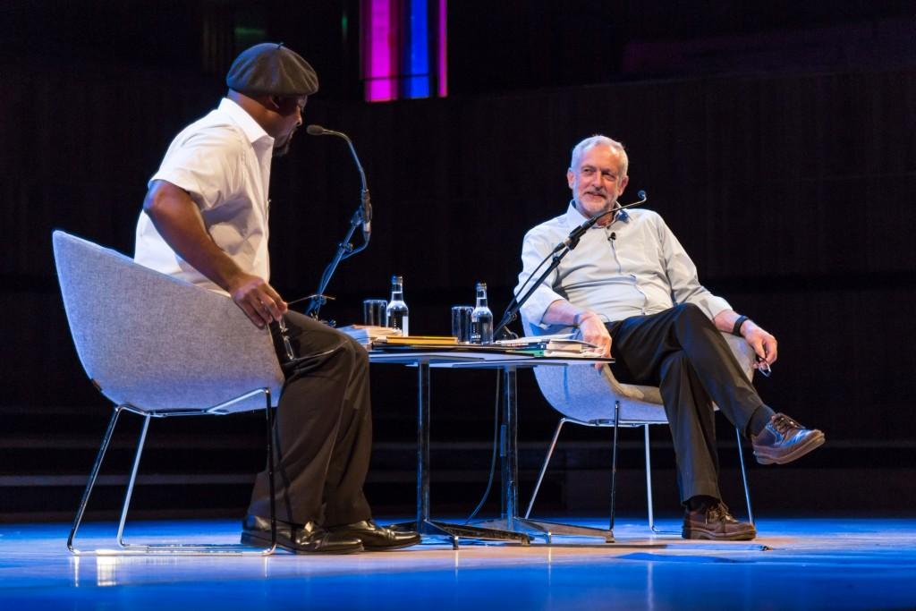 Ben Okri and Jeremy Corbyn  ©Adam Weatherley/Southbank Centre