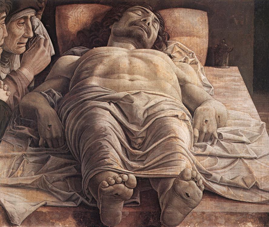 Andrea Mantegna, Lamentation over the Dead Christ, 1480 | © Pinacoteca di Brera/WikiCommons