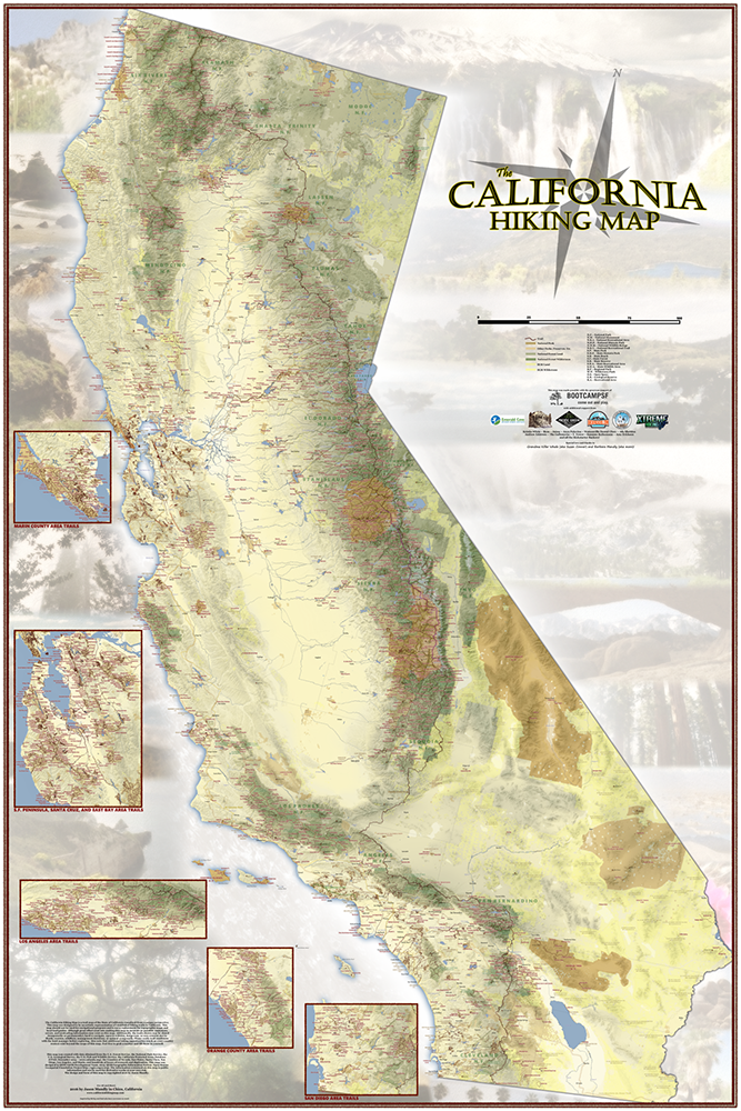 Courtesy of The California Hiking Map