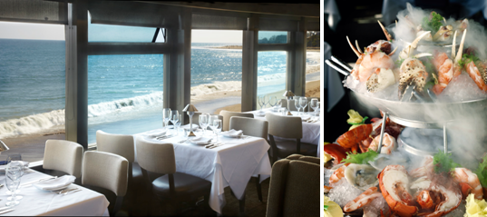 Ocean view and seafood tower | Photo courtesy of Mastro's Restaurants