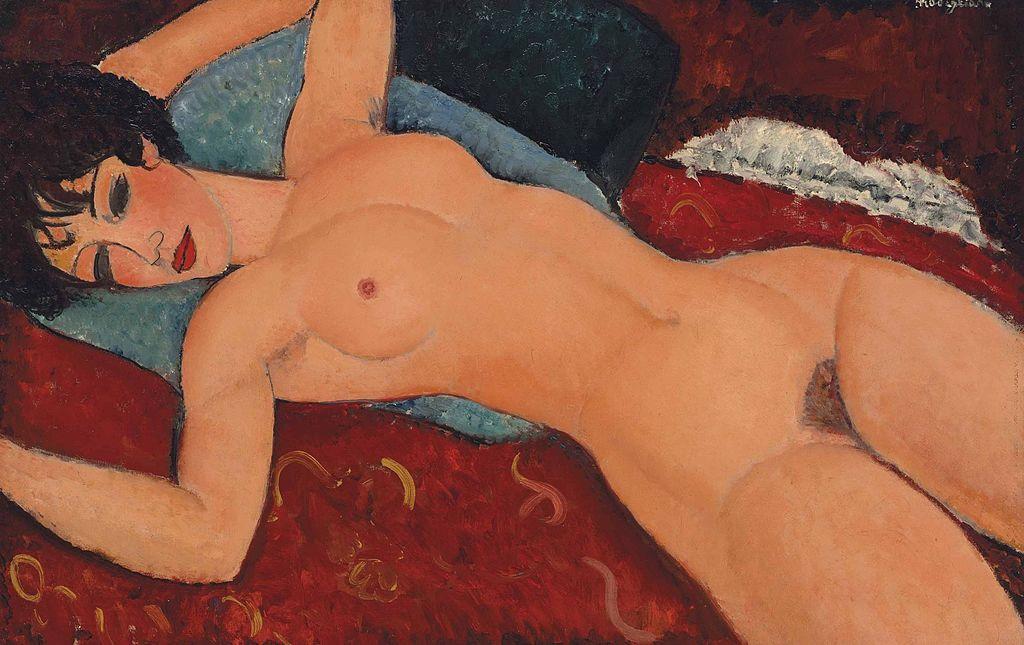 Amedeo Modigliani, Nu couché, 1917 | © Lin Yiquian/WikiCommons