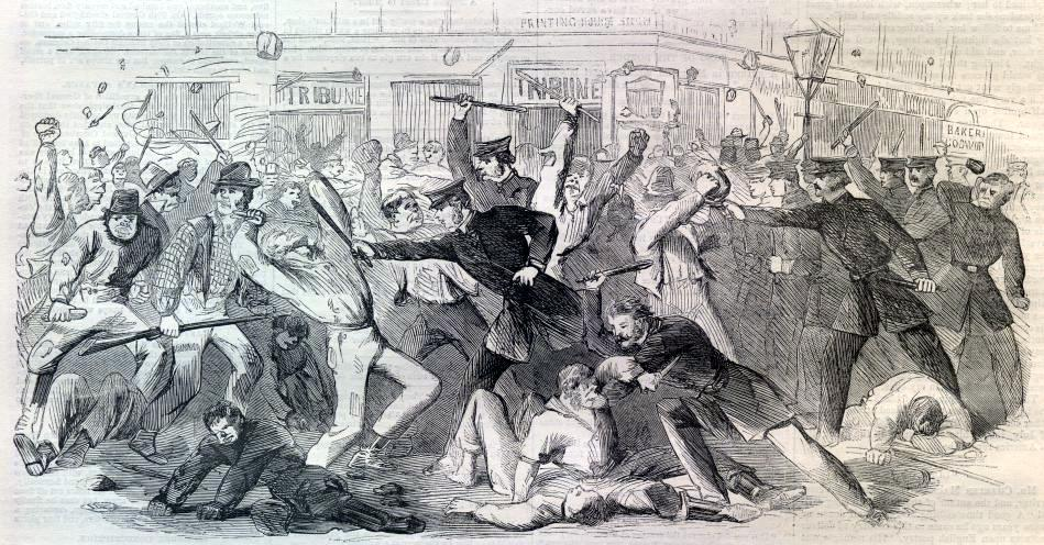 New York Draft Riots - Harpers - beating | © Harper's Weekly/WikiCommons