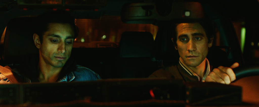 Riz Ahmed and Jake Gyllenhaal in Nightcrawler (EOne)