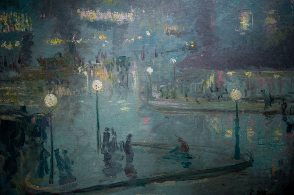 Place de Rome at Night, by Theodore Earl Butler, Terra Foundation for American Art, Daniel J. Terra Collection