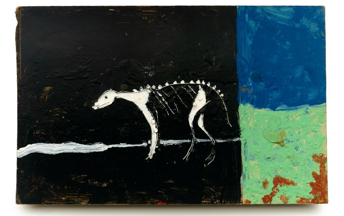 "Ronald Lockett (1965–1998, Bessemer, Alabama) Rebirth Bessemer, Alabama 1987 Wire, nails, and paint on Masonite 12 x 18 1/2 x 1 1/2"" Collection of Souls Grown Deep Foundation, L2015.2.3 Photo by Stephen Pitkin / Pitkin Studio"