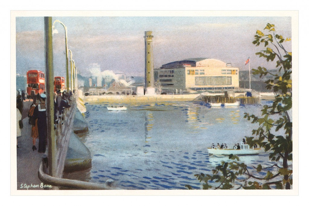 A postcard sent in 1957, showing the Royal Festival Hall|©totallymystified/Flickr