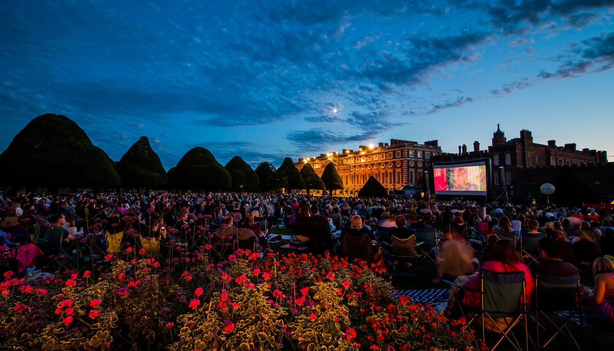 Luna Cinema screen Romeo+Juliet at Hampton Court Palace  Courtesy of Riot Communications